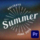 Summer/Holiday Title Pack - VideoHive Item for Sale