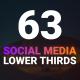 63 Social Media Lower Thirds (MOGRT) - VideoHive Item for Sale