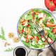 Strawberry Salad with spinach, arugula, walnuts, blue cheese - PhotoDune Item for Sale