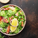 Salad with grilled chicken, tomatoes, arugula, red onion, avocado, sesame seeds - PhotoDune Item for Sale