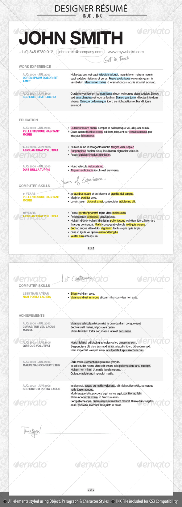Designer Resume - Resumes Stationery