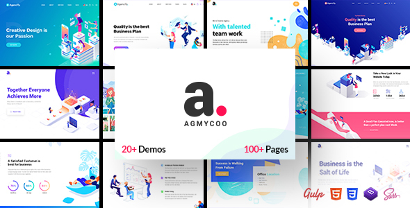 Exceptional Agmycoo - Isometric Creative Digital Agency Portfolio Html Template