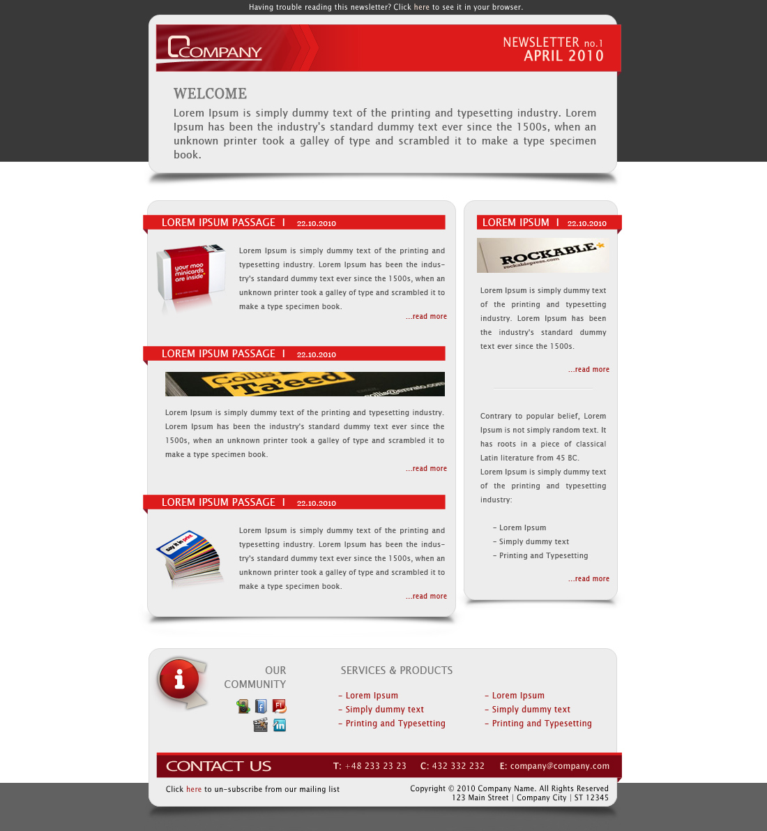 Free Download Company Newsletter - Email Template Nulled Latest Version