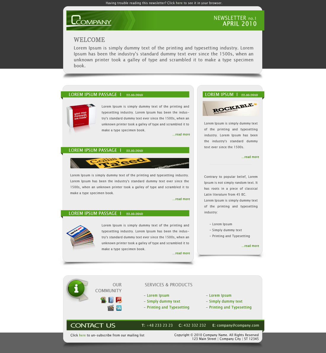 Company Newsletter - Email Template by subline | ThemeForest