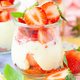 Cream dessert with fresh strawberries - PhotoDune Item for Sale