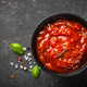 Tomato sauce in a bowl at black stone table - PhotoDune Item for Sale