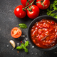 Tomato sauce in a bowl with spices and fresh tomatoes - PhotoDune Item for Sale