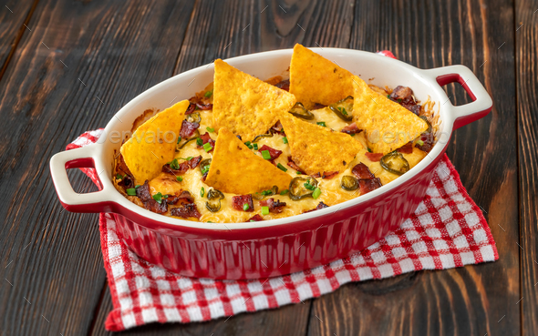 Dish of Jalapeno popper dip - Stock Photo - Images