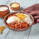 Chili con carne served with white rice - PhotoDune Item for Sale