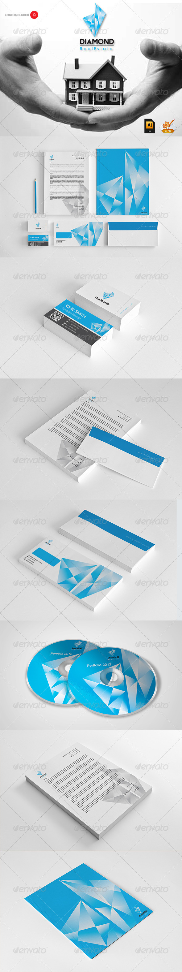 Diamond Real Estate Corporate Design - Stationery Print Templates