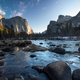 Yosemite National Park Valley View of River and Mountains - PhotoDune Item for Sale