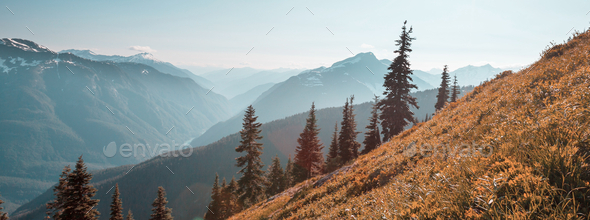 Mountains in Washington - Stock Photo - Images