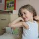 Preety awaking girl with long hair, bedtime - PhotoDune Item for Sale