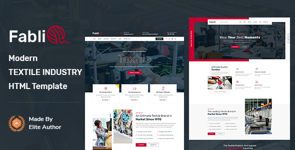 Fablio – Textile Industry HTML5 Template