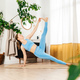 Young woman practicing yoga indoor in morning. - PhotoDune Item for Sale