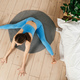 Young woman practicing yoga indoor. Top view. - PhotoDune Item for Sale
