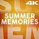 Summer Memories for Premiere Pro - VideoHive Item for Sale