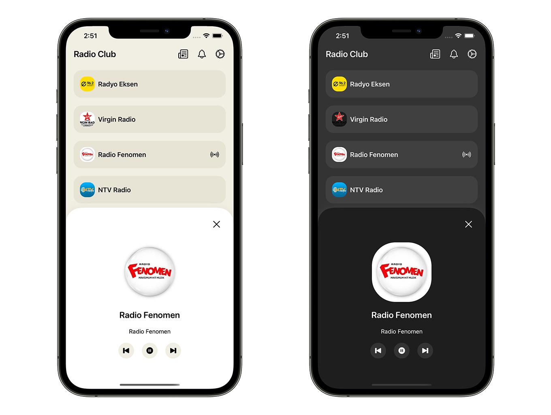 Radio Club App   SwiftUI Full iOS Application - 3