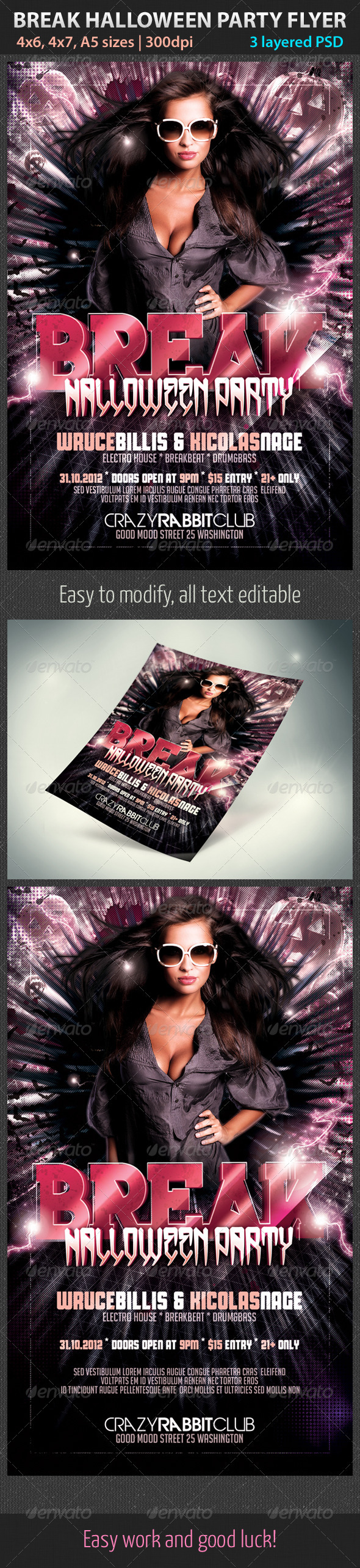 Break Halloween Party Flyer - Clubs & Parties Events