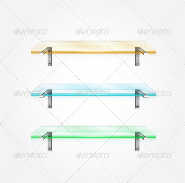 Glass Shelves Vector - Man-made Objects Objects
