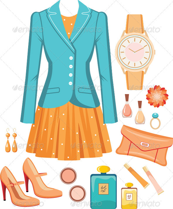 Fashion set - Conceptual Vectors