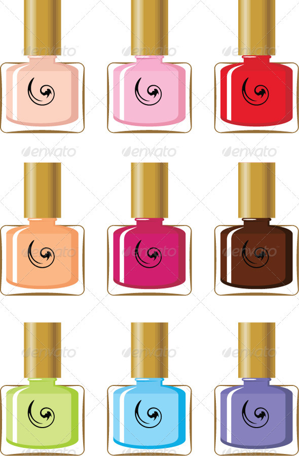 Nail polishes - Conceptual Vectors