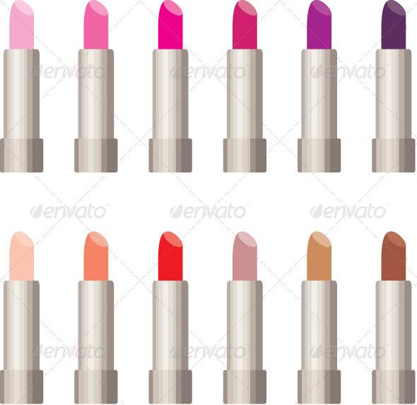 Lipsticks. - Conceptual Vectors