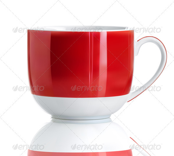 Red tea cup - Objects Vectors