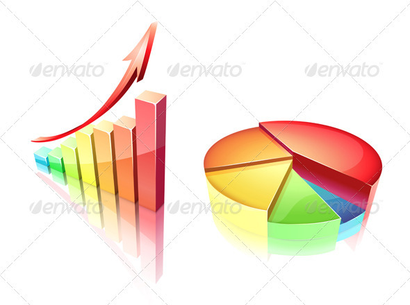Shiny bar and pie chart - Concepts Business