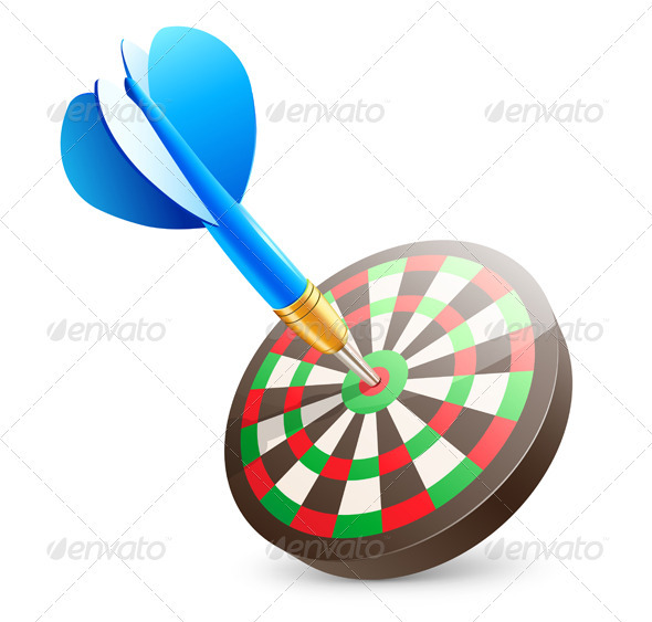 Target dartboard - Conceptual Vectors