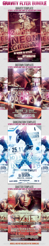 Gravity Flyer Bundle - Clubs & Parties Events