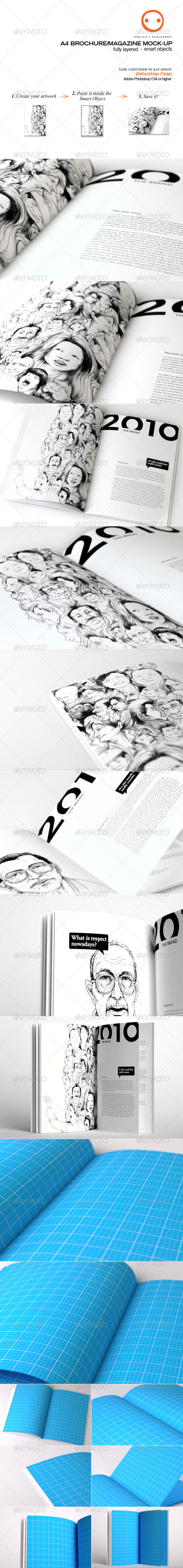 A4 Brochure/Magazine Mock-up - Magazines Print