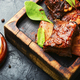 Glazed barbecue beef ribs with herb - PhotoDune Item for Sale