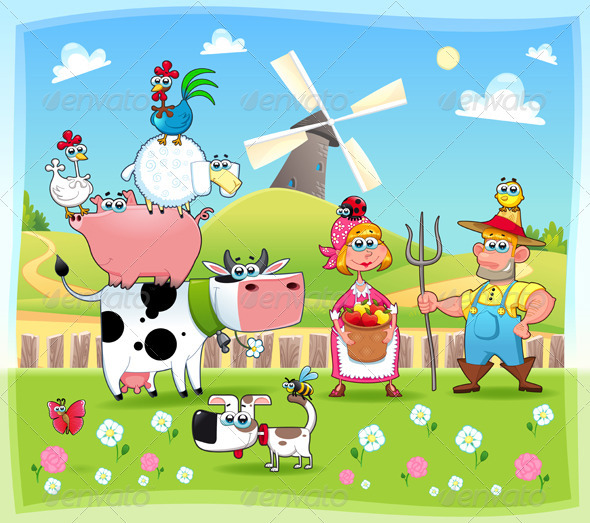 Funny farm family - Animals Characters