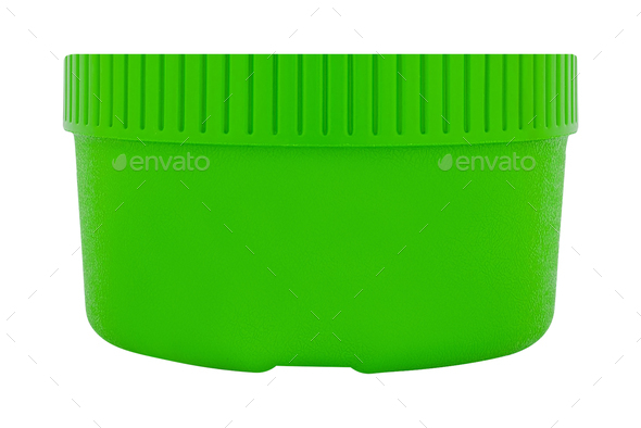 plastic bowl-tub isolated on white - Stock Photo - Images