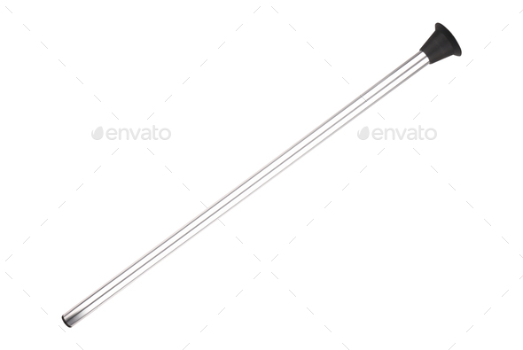 Bow arrow with black sucker isolated on white - Stock Photo - Images