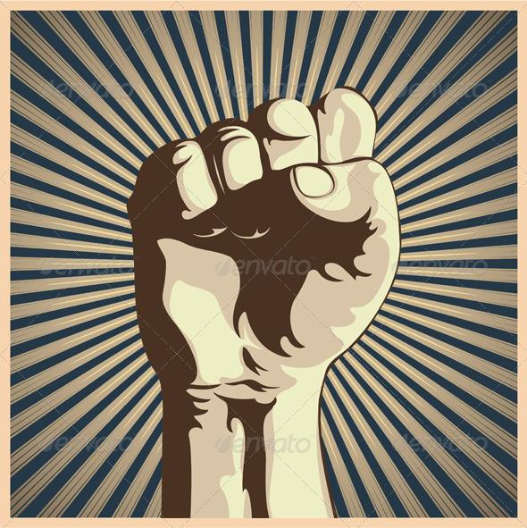 Clenched fist - Conceptual Vectors
