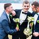 Three friends, groom with groomsman having fun - PhotoDune Item for Sale