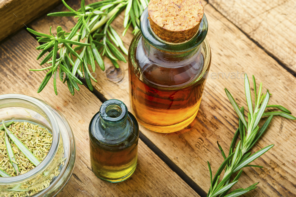 Rosemary in herbal medicine - Stock Photo - Images
