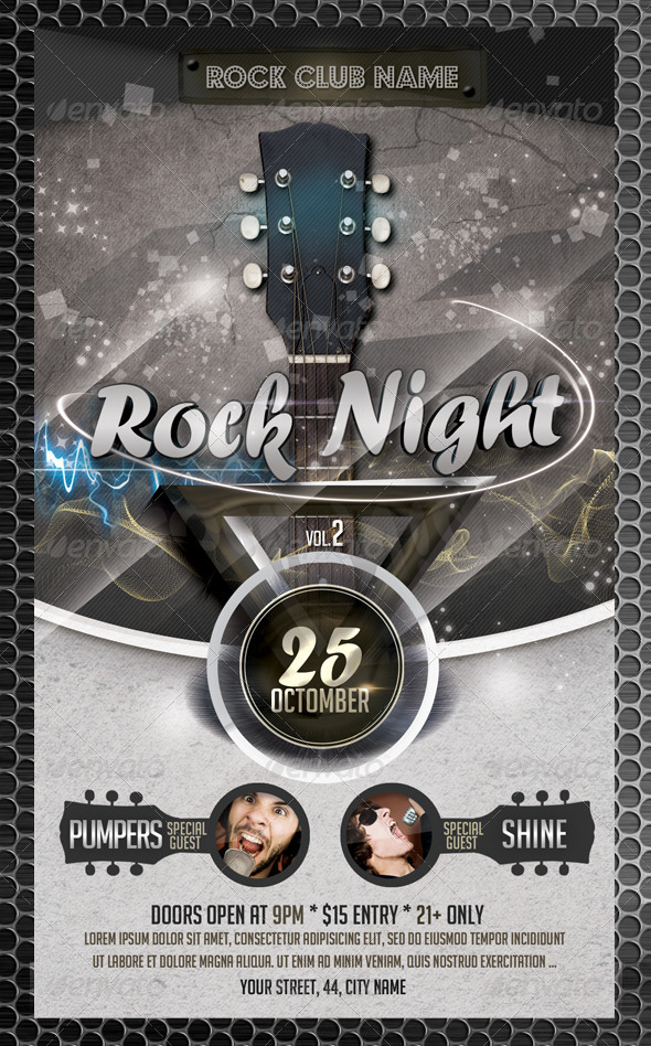 Rock Night Flyer Template Vol2