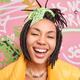 Close up shot of ethnic teenage girl smiles broadly dressed in street style has tendy dreadlocks hai - PhotoDune Item for Sale
