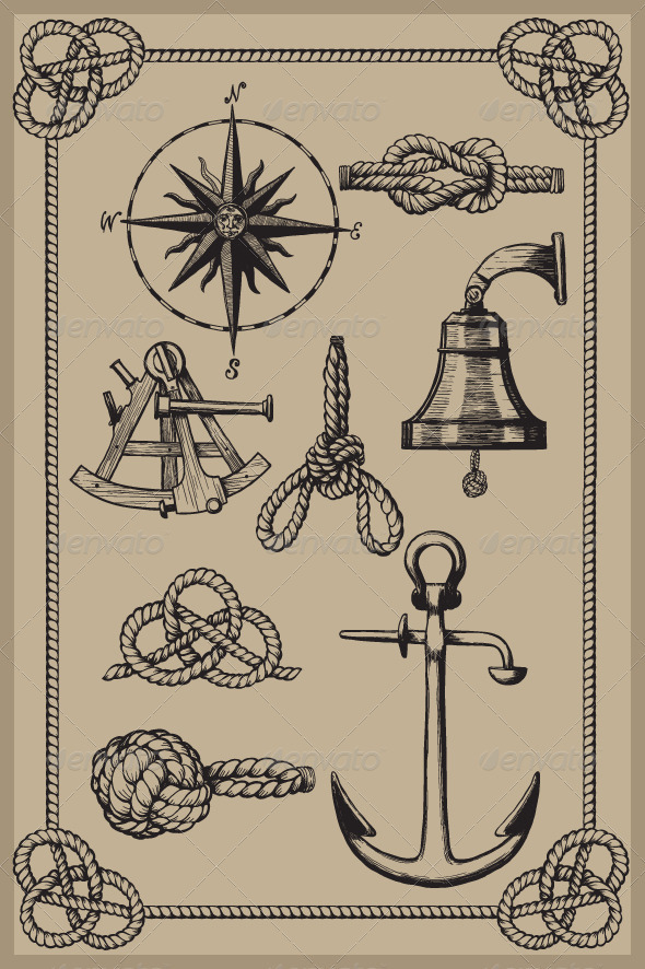 Nautical elements - Decorative Symbols Decorative