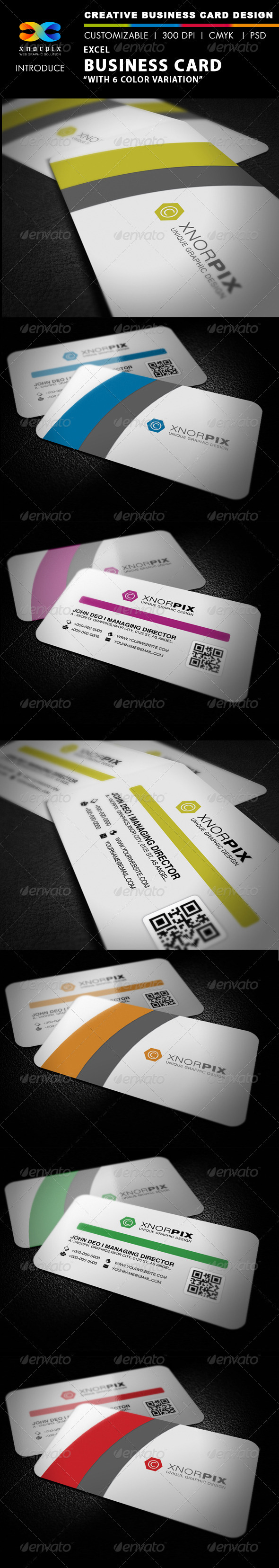 Excel Business Card - Corporate Business Cards