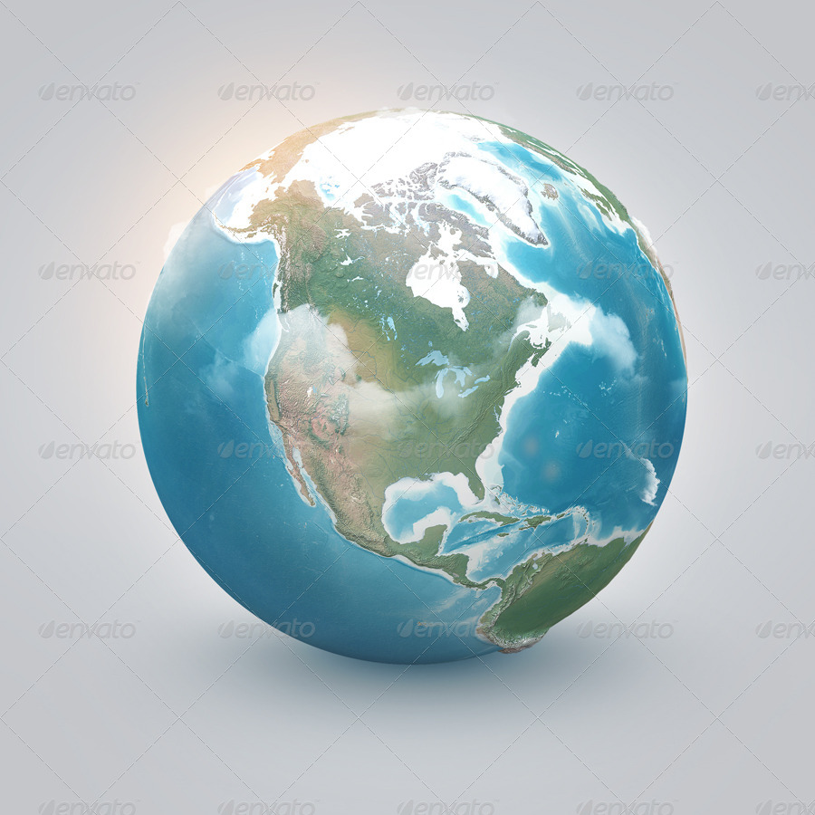 World: Earth Illustrated, 3D World And Infographics