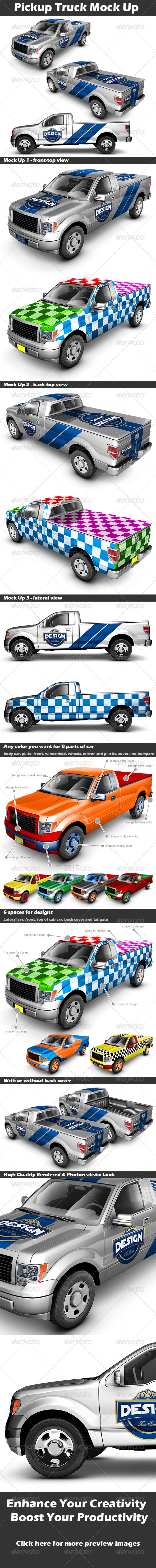 Pickup Truck Mock Up - Vehicle Wraps Print