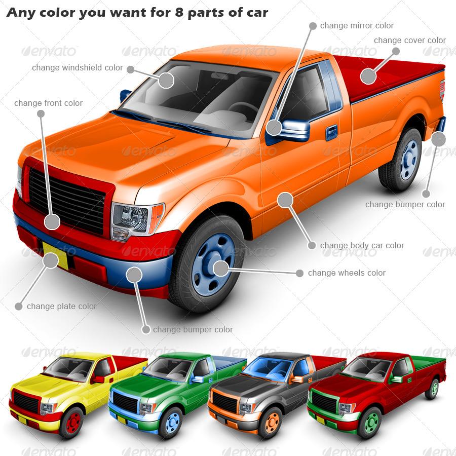 Ups Smart Pickup >> Pickup Truck Mock Up by Logic_Design | GraphicRiver