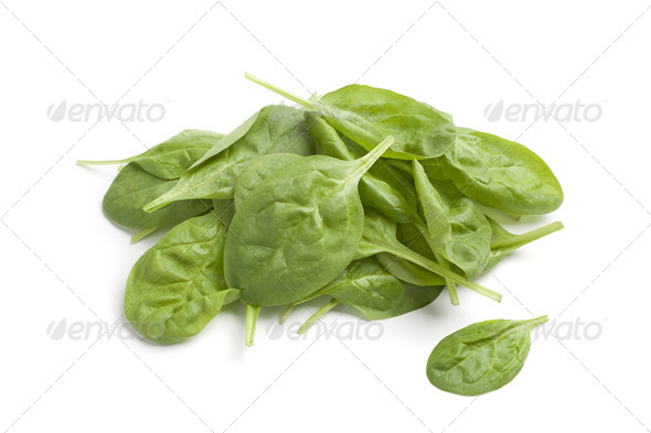 Fresh raw spinach leaves - Stock Photo - Images