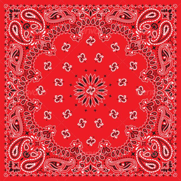 Colorful Bandana - Flourishes / Swirls Decorative