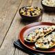 Black beans brown rice corn stuffed zucchini - PhotoDune Item for Sale