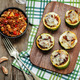 meat of red bell pepper stuffed zucchini - PhotoDune Item for Sale